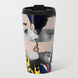 "Roy Lichtenstein's ""In the car"" & Marcello Mastroianni with Anita Ekberg in La Dolce Vita Travel Mug"