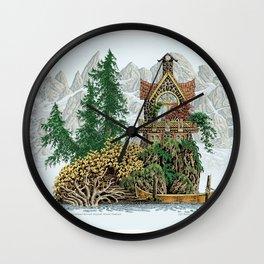 MY ISLAND RETREAT BEYOND MOUNT SHUKSAN Wall Clock