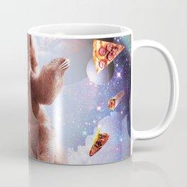 Laser Eyes Space Cat Riding Sloth, Llama - Rainbow Coffee Mug