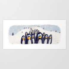 Penguin Winter Art Print