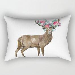 Boho Chic Deer With Flower Crown Rectangular Pillow