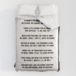 Parts of Speech Rhyme Comforters