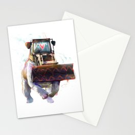Dozer Bulldozer Stationery Cards