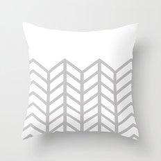 GRAY & WHITE LACE CHEVRON Throw Pillow