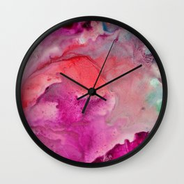 Abstract in Pink Wall Clock