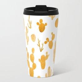 Golden cactus collection Travel Mug
