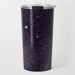 Universe with planets and stars seamless pattern, cosmos starry night sky 005 Travel Mug