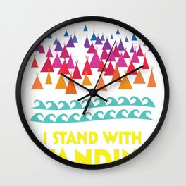 Stand With Standing Rock Shirt Wall Clock