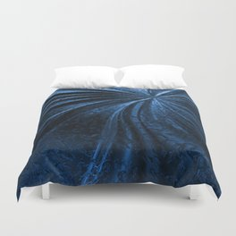 Cold Metal Abstraction Duvet Cover