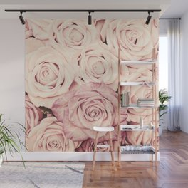 Some people grumble I Floral rose roses flowers pink Wall Mural