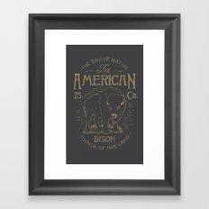 BISON WATERCOLOR Framed Art Print