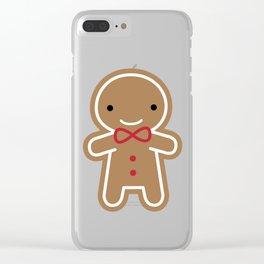 Cookie Cute Gingerbread Man Clear iPhone Case