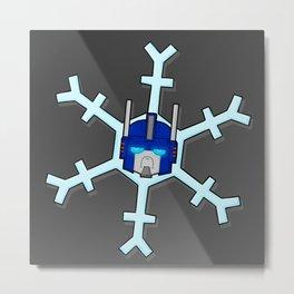 Heavily Armored Snowflake Metal Print