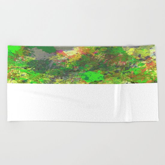 Jungle Of Colour - Multi Coloured Abstract Painting Beach Towel