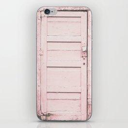 Pink Door iPhone Skin