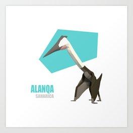 Low Poly Dinosaur - Alanqa Art Print