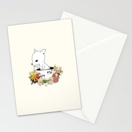 Green Leaves Me Stationery Cards