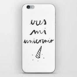 Eres mi unicornio iPhone Skin