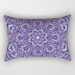 Great Purple Mandala Rectangular Pillow