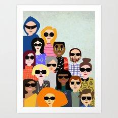 Look on the flip side Art Print