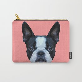 Frenchie / Boston Terrier // Pink Carry-All Pouch