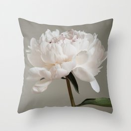 Single peony (natural) Throw Pillow