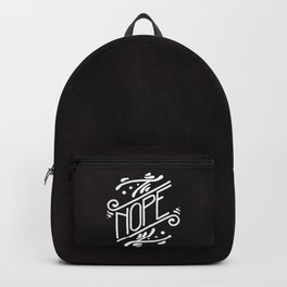 Nope Feminist Art Nouveau Ornate Hand Lettering Quote Backpack