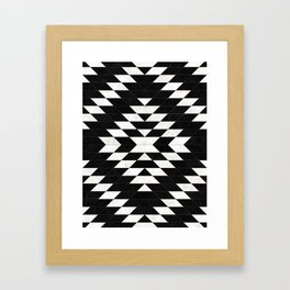 Urban Tribal Pattern No.14 - Aztec - Black Concrete Framed Art Print