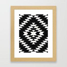 Urban Tribal Pattern No.14 - Aztec - Black Concrete Framed Art Print