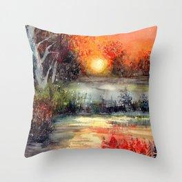 Where The Sun Goes To Sleep Throw Pillow