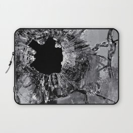 High Contrast Bullet Hole - Kill Your Television Abstract Laptop Sleeve