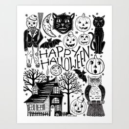My Vintage Halloween Art Print