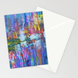 REFLECTIVE METROPOLIS - abstract expressionism prophetic art painting Stationery Cards