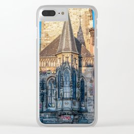 Town hall chapel in the Old Town Square - Prague Clear iPhone Case