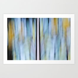 Buttery Lines (Abstract Blue) Art Print