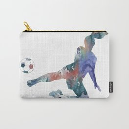 Female Soccer Player Carry-All Pouch