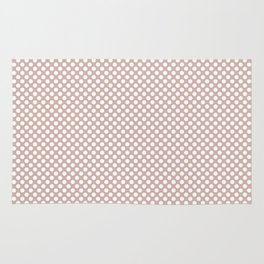 Rose Smoke and White Polka Dots Rug