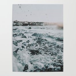 summer waves ii / bondi beach, australia Poster