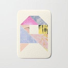 Collaged Tangram Alphabet - A Bath Mat