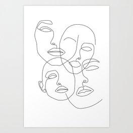 Messy Faces Art Print