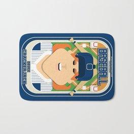 Baseball Blue Pinstripes - Deuce Crackerjack - Jacqui version Bath Mat