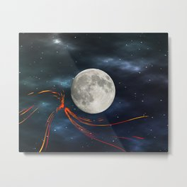 Fire streaks in the universe Metal Print