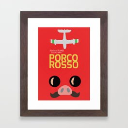 Porco Rosso - Hayao Miyazaki minimalist movie poster - Studio Ghibli, japanese animated film Framed Art Print