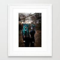 charmaine Framed Art Prints featuring Witch Sisters I by RavenBlakh