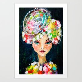 High Society Girl Art Print