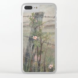 a swirl of courage Clear iPhone Case