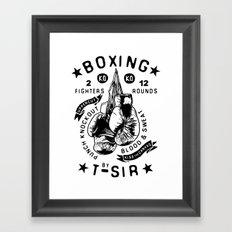 Boxing Framed Art Print