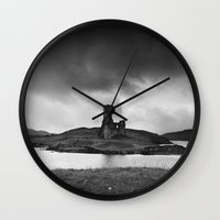scotland Wall Clocks featuring SCOTLAND, CASTLE by Carlos Sanchez