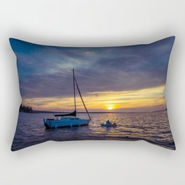 Into the sunset Rectangular Pillow