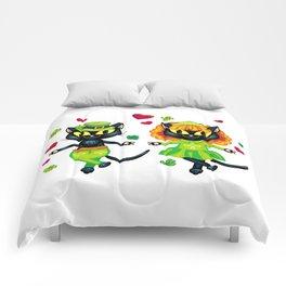 Irish dancing cats Comforters